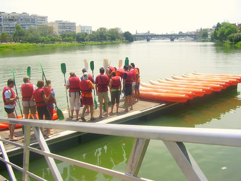 Kayak team building seville